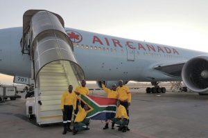 AC Flies 300 Firefighters From Johannesburg to Edmonton