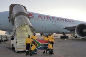 Air Canada-Air Canada Flies 300 Firefighters from Johannesburg,