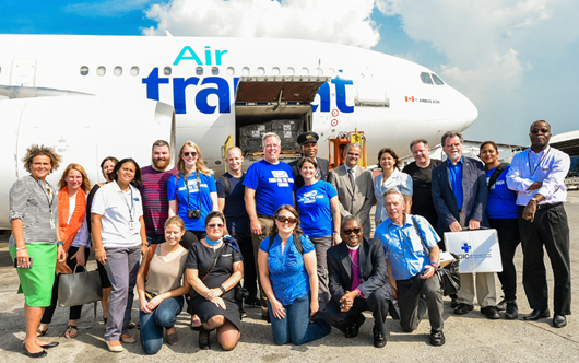 Air Transat helps out
