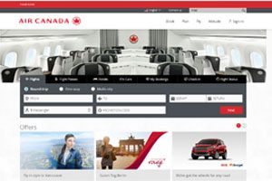 Air Canada Launches Re-Designed Web Site