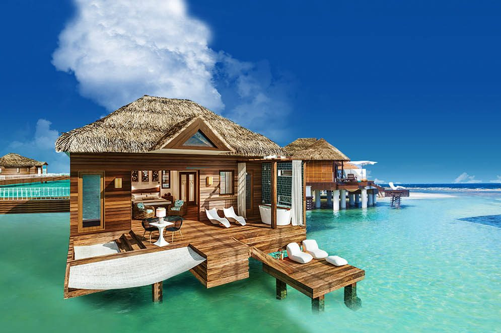 9 Overwater Bungalows Open At Sandals Grande St Lucian: Sandals Adding More Over-Water Bungalows In Jamaica