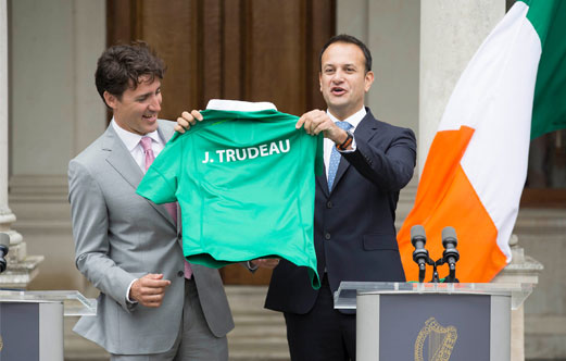 A warm Irish welcome