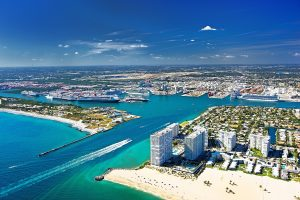 Cruise Ships Head Back to Port Everglades