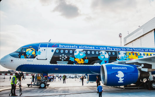 Brussels Airlines Reveals Aerosmurf Travelpress