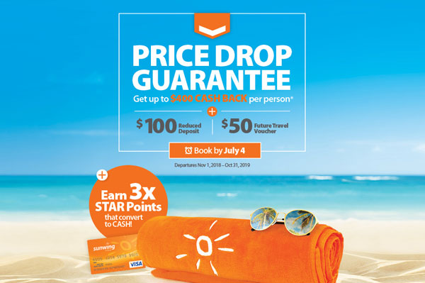 Triple STAR Points From Sunwing