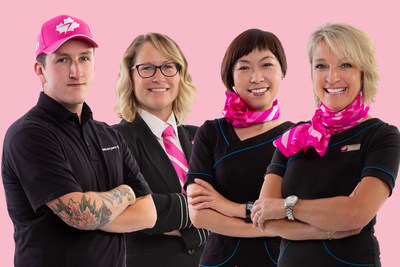 WestJet Goes Pink to Help Beat Breast Cancer