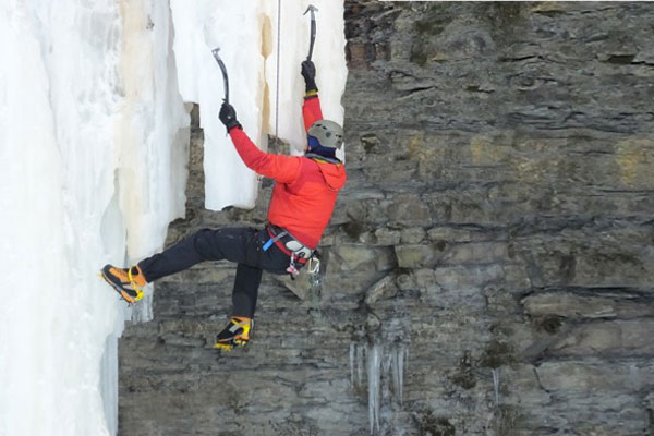 Embrace Winter in Elora With Ice Climbing