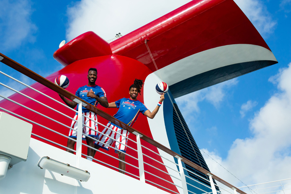 Carnival Scores With The Harlem Globetrotters
