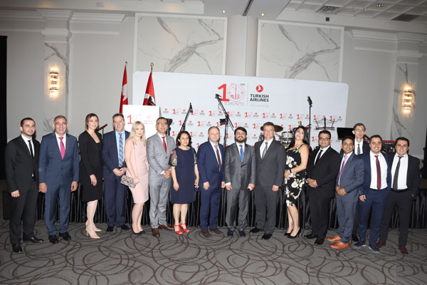 Turkish Airlines Marks 10 Years in Canada