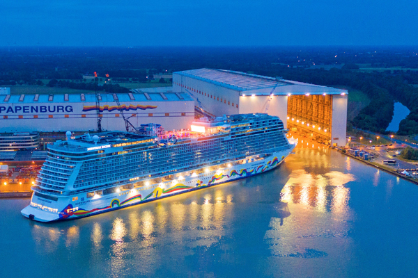 Norwegian Encore Emerges From The Shipyard