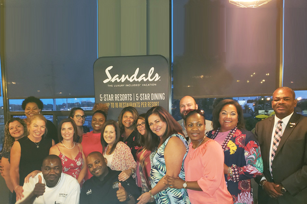 Sandals Rewards Its Winning Agents