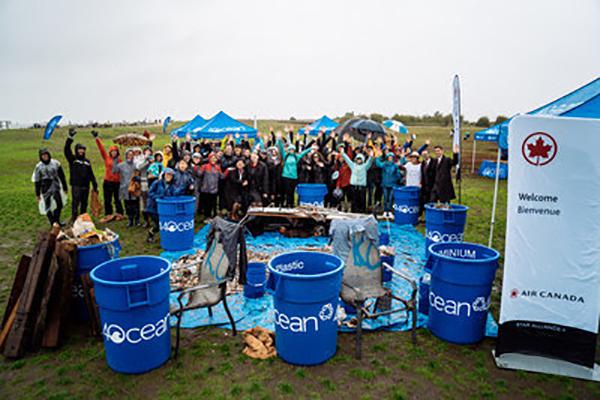 Air Canada Lends A Hand For 4ocean's Clean Up