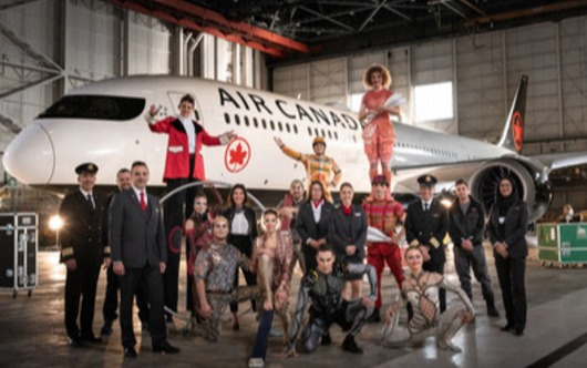 Air Canada, Cirque du Soleil Team Up
