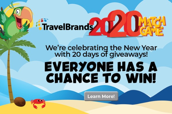 Win With TravelBrands' 2020 Match Game