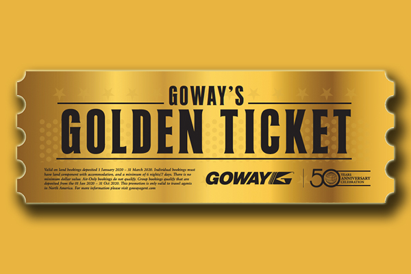 Goway Celebrates By Giving Away Gold