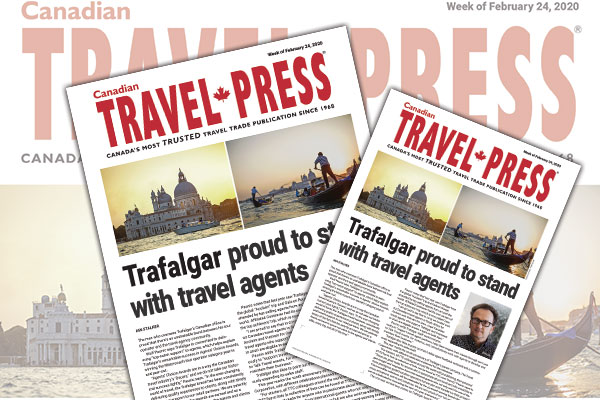 Trafalgar Proud To Stand With Travel Agents