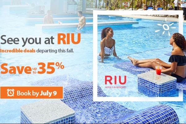 Save At RIU With Sunwing
