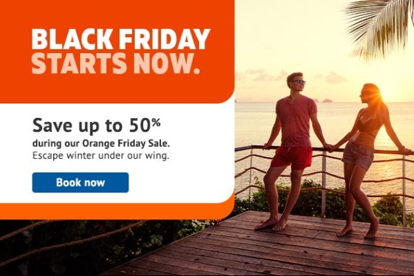 "Sunwing Launches ""Orange Friday Sale"" Early"