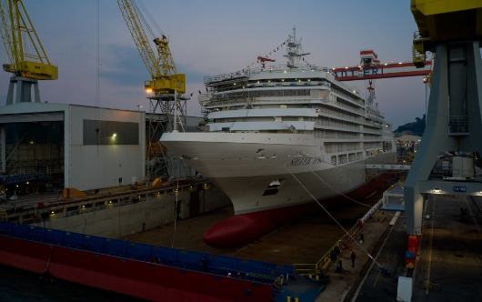 Silver Dawn floats out in Ancona