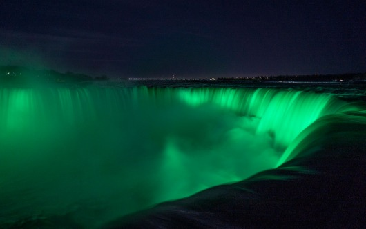 Niagara Falls Goes Green For St. Patrick's Day