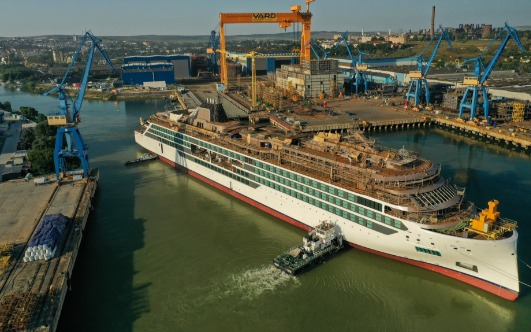 Viking Floats Out Its New Ship